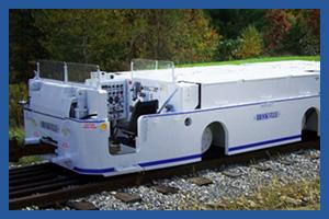 Brookville underground mining diesel locomotive